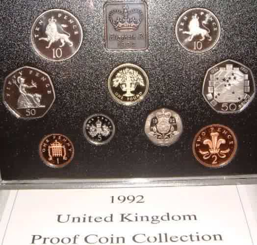 IRELAND IN DISPLAY CASE WITH C.O.A. OFFICIAL  ONE PUNT PROOF COIN  1990
